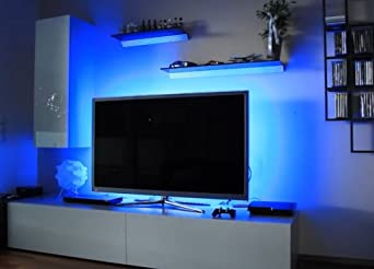 TV Mood Lights Two BLUE 12 Neon Tubes Mount Behind