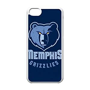 iPhone 5c Cell Phone Case White Memphis Grizzlies Distressed Rsafg
