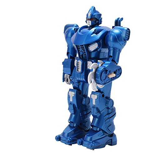 Lightbringer Android Robot Toy Figure For Kids – Lights, Sounds, Realistic Walking Function (Blue)