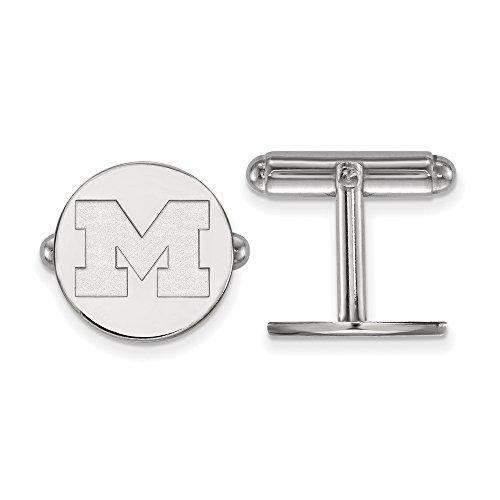 University Sterling Silver Cufflinks (Michigan Cuff Links (Sterling Silver))