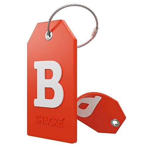 Initial Luggage Tag with Full Privacy Cover and Stainless Steel Loop – (Letter B)