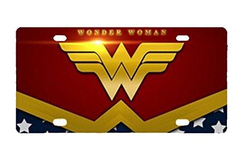 Durable Wonder Women Metal License Plate Car Tag S.H.I.E.L.D.