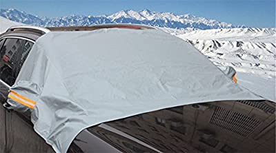 Alice Windowshop Windshield Snow Cover for Universal Cars Exterior Front Window Snow Shade Grey