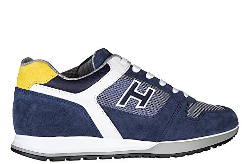 Hogan zapatos zapatillas de deporte hombres en ante nuevo h321 h flock blu