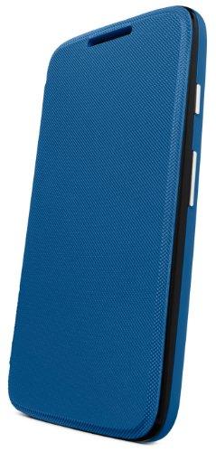 Motorola Flip Shell for Moto G - Retail Packaging - Royal Blue (1st Generation Only) (Motorola First Phone Flip)