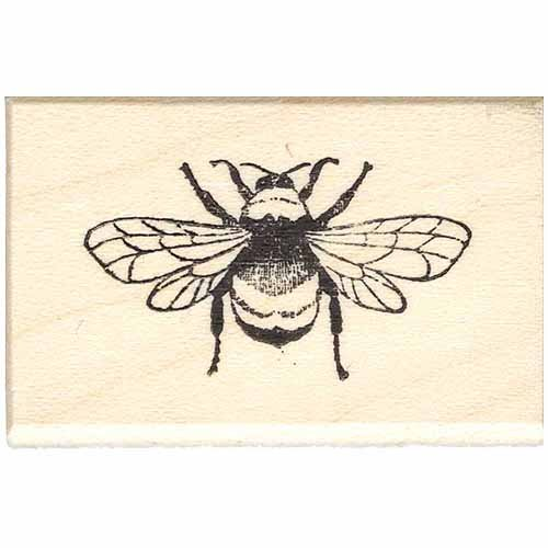 Full Bee Rubber Stamp