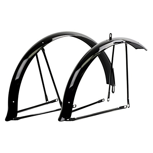 Sunlite Cruiser Fenders, Full, Black (Cruiser Bike 26' Wheels)