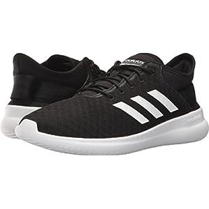 adidas Neo Women's CF Qtflex W Running Shoe, Black/White/Black, 8.5 Medium US