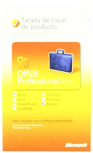 Microsoft Office Professional 2010 Key Card 1PC/1User-Spanish ()