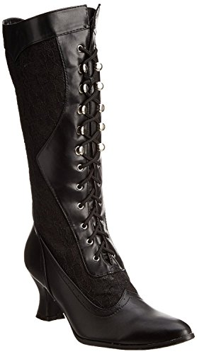 Ellie Shoes 253 Rebecca Womens Vintage Victorian Gothic Granny Lace up Boots Black - Victorian Eyelet