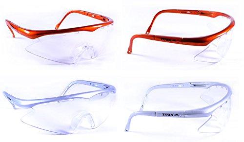 Gafas de protección de Titan, para junior, Silver Frame