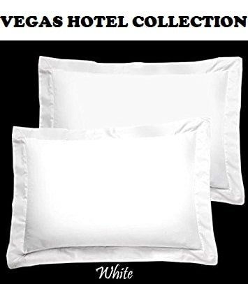 VEGAS HOTEL COLLECTION Superior Soft Quality Egyptian Cotton Luxurious 2-Piece Pillow Shams Full/Queen Size ( 20