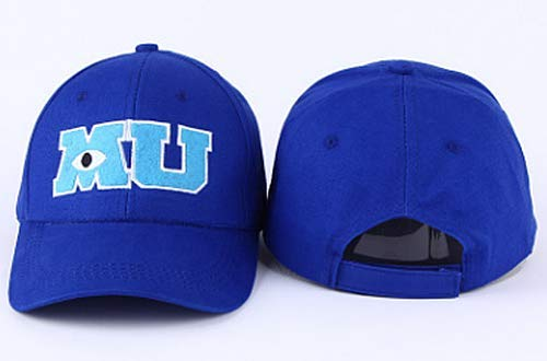 Baseball Cap Blue MU Hat Monsters University Movie Pixar Mike