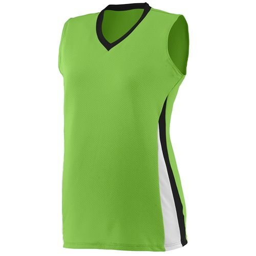 Sleeveless 3-Color Softball Girls/Womens V-neck Collar Cool-Base Wicking Ladies Fit Jersey/Uniform