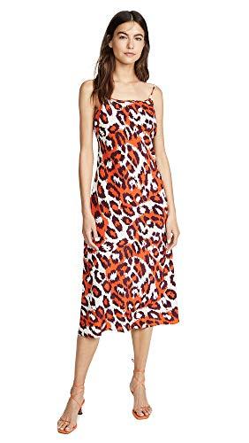 Diane von Furstenberg Women's Lea Dress, Leopard Spicy Orange, Large Diane Von Furstenberg Silk Dress