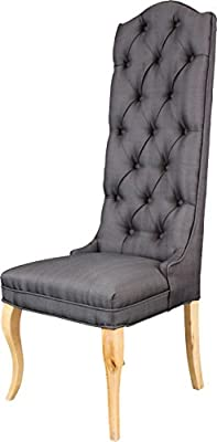 Peachy Amazon Com Established 98 Tuft High Back Accent Chair Gray Dailytribune Chair Design For Home Dailytribuneorg