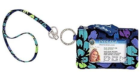 outlet store f006c ae482 Vera Bradley Zip Id Case and Lanyard in Indigo Pop by Vera Bradley