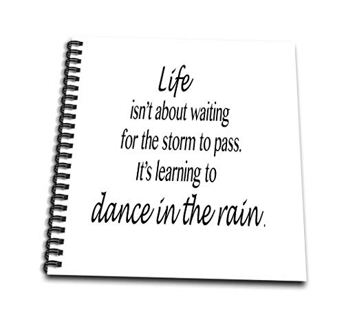 ToryAnneコレクション引用–Life Isnt About Waiting For The Storm To Pass。–Drawing Book 4 x 4` db_163984_3