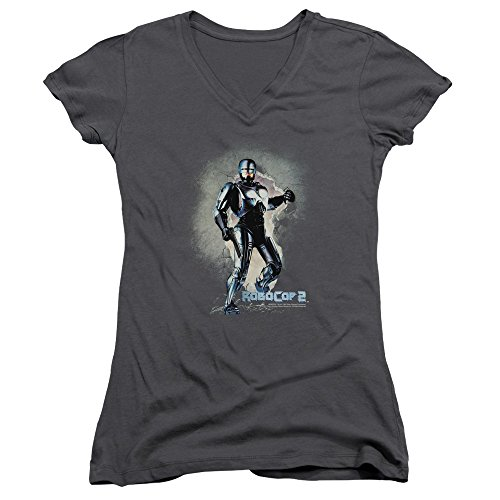 Sequel Poster (Robocop 2 Classic Sci-Fi Film Sequel Movie Poster Juniors V-Neck T-Shirt Tee)
