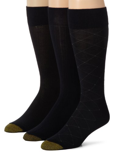 Gold Toe Mens Rayon Fashion 3 Pack Socks