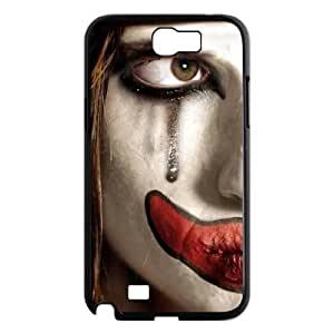 Diy Cool Clown Custom Cover Phone Case for samsung galaxy note 2 Black Shell Phone [Pattern-2]