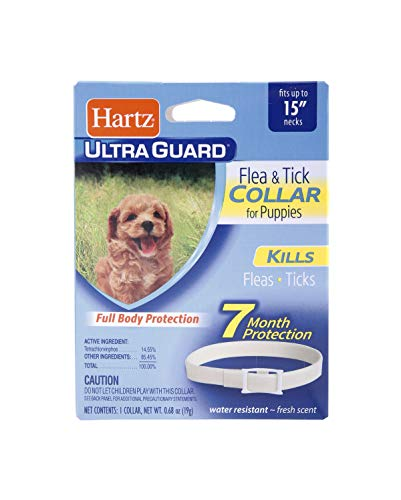 HARTZ Ultra Guard Water Resistant Protection Flea and Tick Collar for Puppies