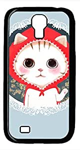 Samsung Galaxy S4 I9500 Black Hard Case - Cat Wearing A Red Hat Galaxy S4 Cases