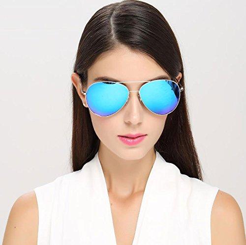 2 DT Coreanas polarizadas 1 Femeninas Sol de Gafas Delgadas Sol Gafas Color Gafas de rqrw1Hx7
