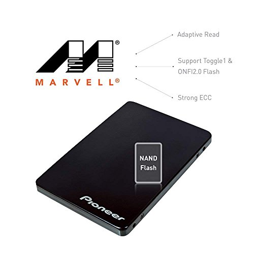 Pioneer 240GB Solid State Drive, 3D NAND 2.5-Inch TLC SSD SATA 6Gb/s Shock-proof, Marvell controller, LPDC error correction, SMART self-monitoring, PC upgrade(APS-SL2-240) by Pioneer (Image #2)