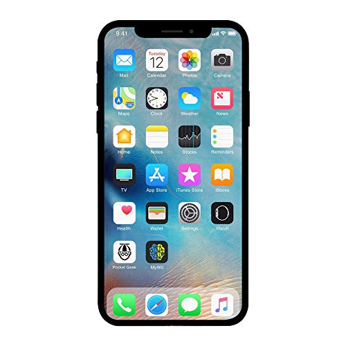 Apple iPhone X, 256GB, Silver - For AT&T (Renewed)