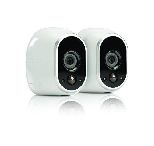 Arlo Smart Home Security Camera System - 2 HD, 100% Wire-Free, Indoor/Outdoor Cameras with Night Vis