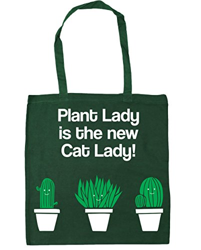 Tote 42cm 10 Lady Plant Gym Shopping Bottle Beach Bag Cat New The Lady Green HippoWarehouse x38cm is litres H076q0w