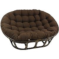 Blazing Needles Solid Twill Double Papasan Chair Cushion, 58 x 6 x 78, Toffee