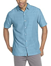 Men's Poly Rayon Short Sleeve Button Down Shirt