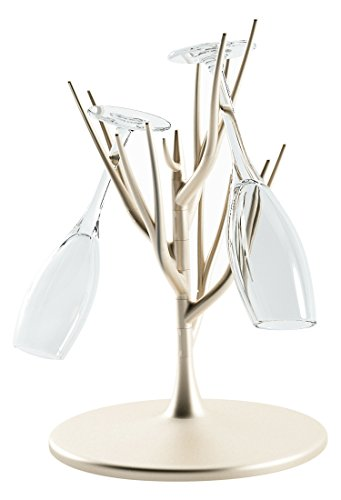 KAGGA Cup Holder Coffee Mug Holder Tree Kitchen Countertop Cup Tree Stand Home Basics Scroll Collection (Champagne gold)