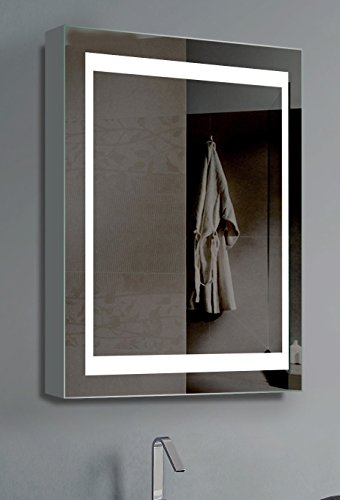 Innoci-USA 26 x 20 electric mirror vanity cabinet , lights on each side with steel back frame and 35,000 hour LED bulb life