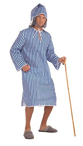 Vintage Inspired Nightgowns, Robes, Pajamas, Baby Dolls Mens Scrooge Nightshirt + Cap Costume for Dickensian Victorian Fancy Dress Adult by Partypackage Ltd $90.03 AT vintagedancer.com