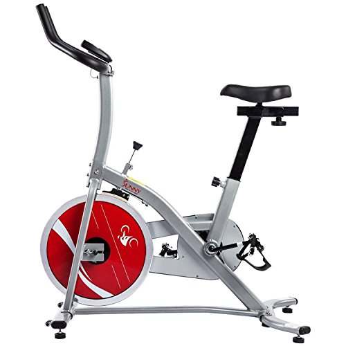 Indoor Cycling Exercise Stationary Bike Home Health and Fitness Equipment Cardio Workout Training Machine Monitor Displays: Speed Distance Pulse Scan Time ODO and Calories Heavy Duty Crank Steel Frame