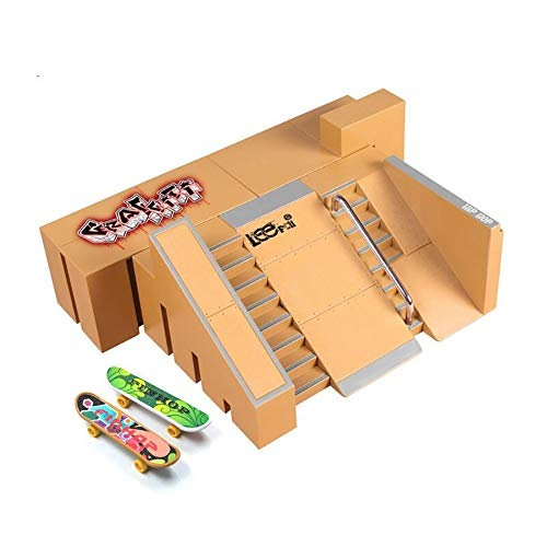 tall 5PCS Skate Park Kit Ramp Parts for Finger Skateboard Ultimate Parks Training Props (5PCS) ()