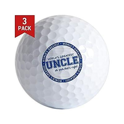 CafePress - Worldsgreatestuncle - Golf Balls (3-Pack), Unique Printed Golf Balls