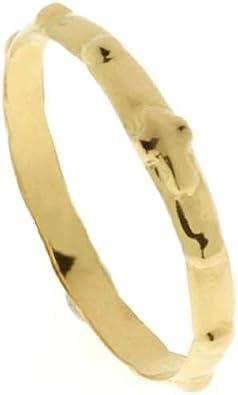 Anello Rosario in oro giallo 750/%