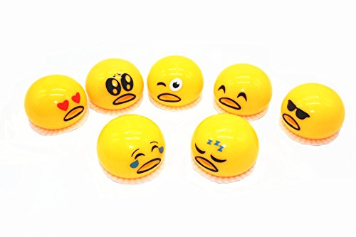 Kmool Squeezed Funny Abreaction Toy  Mr  Egg Vomits Yolk  7 Kinds Of Emojis