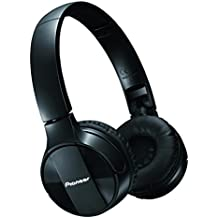Pioneer Bluetooth Lightweight On Ear Wireless Stereo Headphones, Black SE-MJ553BT(K)