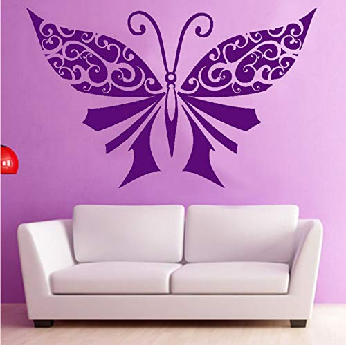 TWJYDP Wallstickers Large Butterflies Bedroom Headboard DIY Removable Home Decor Finished Size 68X44Cm