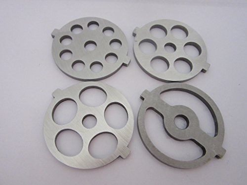 ((4) New Grinding plate discs for Kitchenaid Mixer FGA Food Chopper and Meat Grinder)