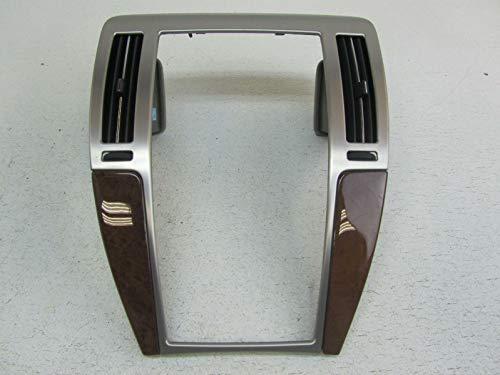 Morad Parts 09 Cadillac STS Brushed Aluminum Wood Grain Woodgrain Radio Dash Bezel Trim ()