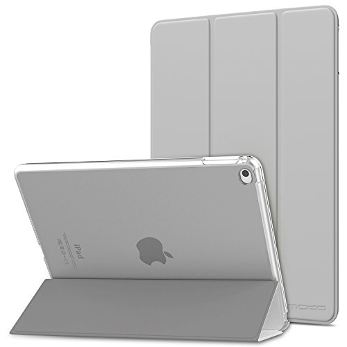 (MoKo Case Fit iPad Air 2 - Slim Lightweight Smart Shell Stand Cover with Translucent Frosted Back Protector Fit iPad Air 2 9.7