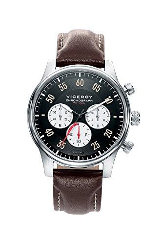 Viceroy Reloj Cronógrafo para Hombre de Cuarzo con Correa en Cuero 46721-54: Amazon.es: Relojes