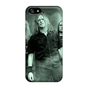 Anti-Scratch Hard Phone Cases For Iphone 5/5s With Support Your Personal Customized HD Macbeth Band Image AshleySimms