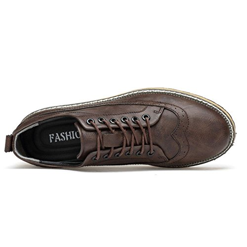 Taoffen Hommes Loisirs Chaussures Basses Chaussures Oxford Marron
